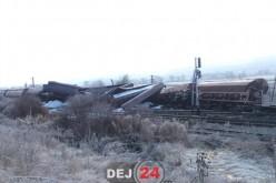 DEZASTRU între Dej și Jibou. Un tren de marfă a deraiat – traficul feroviar, BLOCAT – FOTO