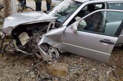 Accident în Braniștea. O mașină s-a izbit de un monument – FOTO