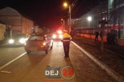 Accident la Gherla. Pieton, lovit de o mașină, în zona autogării – FOTO