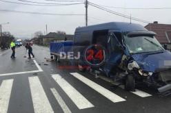 Accident pe DN17, în Uriu. IMPACT PUTERNIC între două autovehicule – FOTO