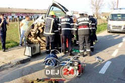 GRAV ACCIDENT la Iclod. Impact violent între două autoturisme – FOTO/VIDEO