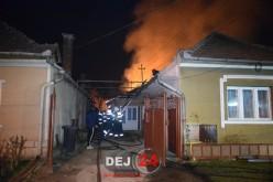 Incendiu VIOLENT în Gherla. Desfășurare impresionantă de forțe – FOTO/VIDEO