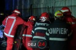 Accident FEROVIAR în Dej. Un bărbat a rămas ÎNCARCERAT – FOTO/VIDEO