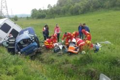 GRAV ACCIDENT, soldat cu DOI MORȚI, între Dej și Bistrița – FOTO