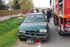 ACCIDENT în Gherla, soldat cu o persoană rănită. O șoferită nu a păstrat distanța de siguranță în mers – FOTO/VIDEO