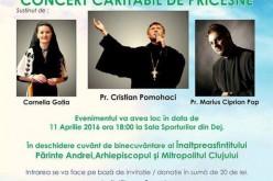Concert caritabil de pricesne, în curând, la Dej. Cap de afiș, pr. Cristian Pomohaci