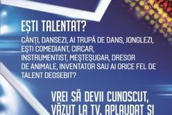 """Ai un talent deosebit? Echipa """"Românii au talent"""" vine, în curând, la Dej"""