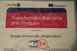 """Școală din Dej, locul III la faza națională a concursului """"Made for Europe"""". S-a lăsat cu o bursă de merit – FOTO"""