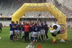 Trei fotbaliști ai Unirii Dej, CAMPIONI cu echipa de fotbal a UBB Cluj