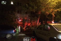 Incendiu în Dej. Sărbătorile pascale se puteau încheia tragic pentru o femeie – FOTO
