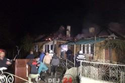 INCENDIU VIOLENT în Sânmărghita. O casă a ars ca o torță – FOTO/VIDEO