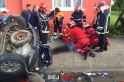 ACCIDENT MORTAL la Reteag. O femeie din Dej a DECEDAT, în urma coliziunii a două autoturisme – FOTO/VIDEO