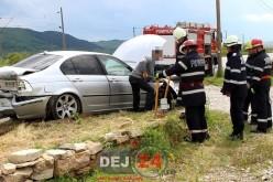Accident în Livada. Pericol de explozie, au intervenit pompierii din Dej – FOTO/VIDEO