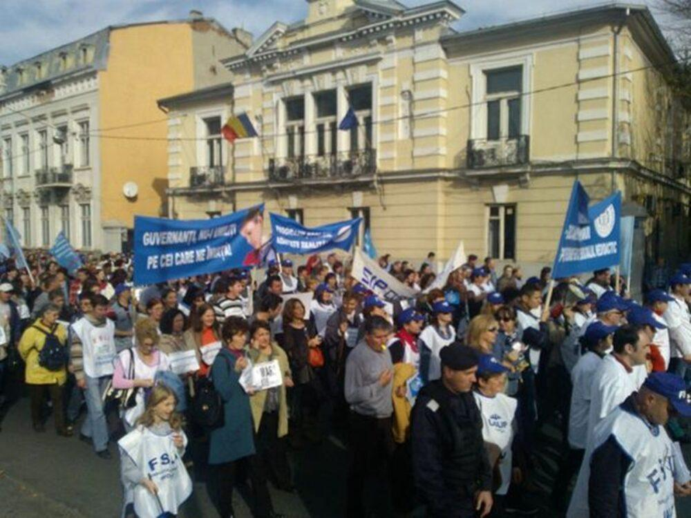 protest miting educatie profesori salarii