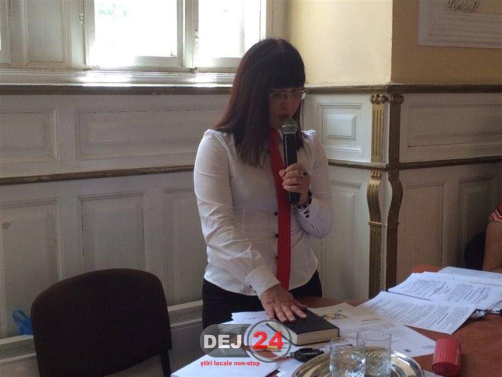 Dora Muncelean viceprimarul municipiului Dej