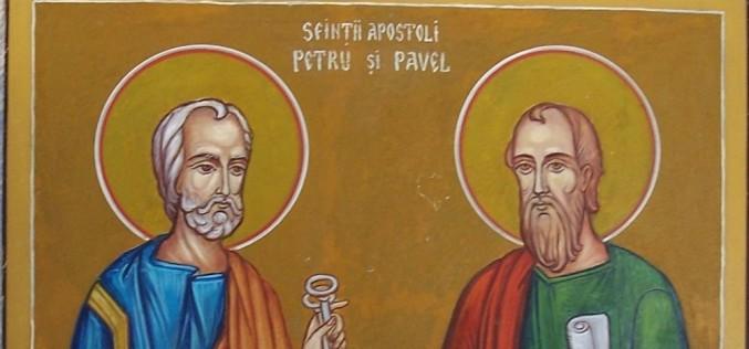 Sfinţii Apostoli Petru şi Pavel, sărbătoriţi pe 29 iunie. Tradiţii şi obiceiuri
