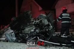 Accident MORTAL în Reteag. DOI TINERI și-au pierdut viața – FOTO/VIDEO
