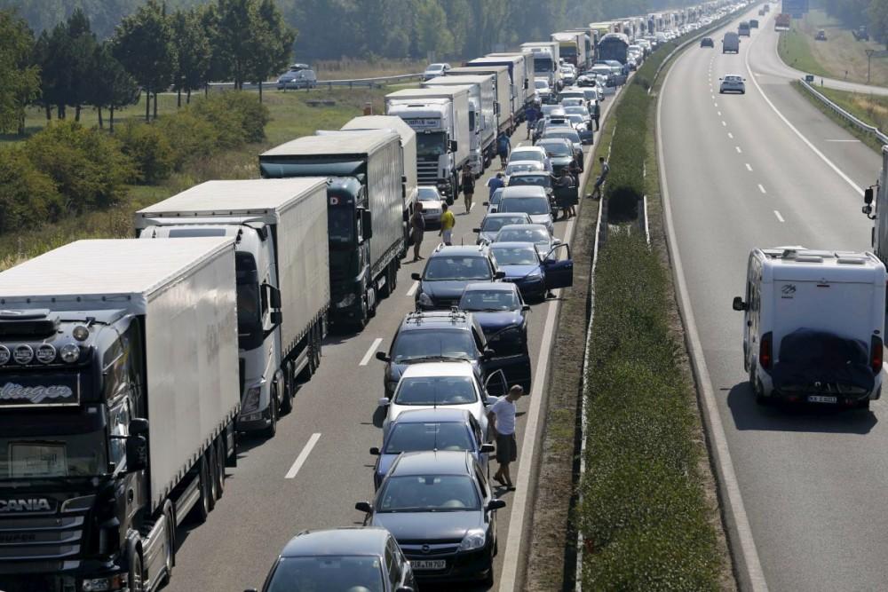 Tir Tiruri tiristi greva blocaj autostrada