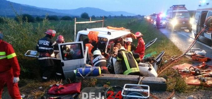 Accident CUMPLIT pe DN17, între Dej și Bistrița. Două persoane AU MURIT – FOTO/VIDEO
