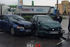 Dej – Încă un accident în zona benzinăriei OMV. Autoritățile locale dorm în papuci! – FOTO