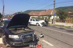 IMPACT PUTERNIC între două mașini, în Dej – FOTO/VIDEO