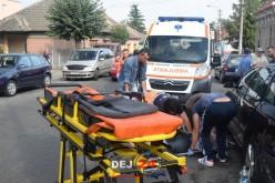 ACCIDENT în Dej! O bătrânică a fost lovită în plin de o motocicletă – FOTO/VIDEO