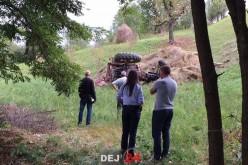 ACCIDENT GRAV în Batin! Un bărbat s-a răsturnat cu tractorul – FOTO/VIDEO