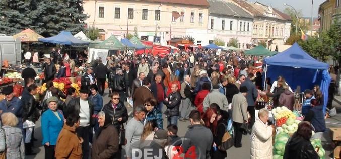 Ziua Recoltei, în centrul municipiului Dej. Produse la prețuri bune, pe tarabe – FOTO/VIDEO