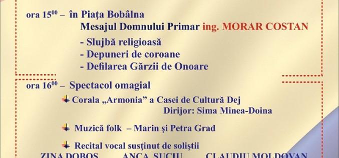 Ziua Națională a României va fi marcată și la Dej! Vezi programul manifestărilor