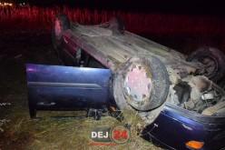 ACCIDENT la Rugășești! Cinci victime au ajuns la Spitalul Municipal Dej după ce s-au rostogolit cu mașina – FOTO/VIDEO