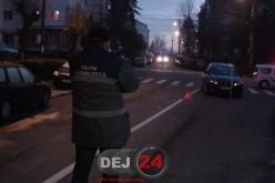 Accident în Dej. Bărbat lovit de mașină pe o trecere pentru pietoni – FOTO/VIDEO