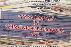 """DEZBATERE, mâine, la Dej – """"Presa locală în comunitatea locală, azi"""""""