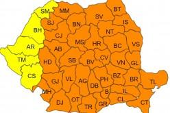 COD PORTOCALIU de GER pentru județul Cluj! Temperaturile vor scădea până la -29 de grade