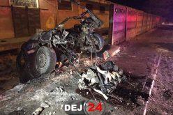 IMPACT PUTERNIC în Dej! Motorul unui autoturism a ajuns pe carosabil – FOTO/VIDEO