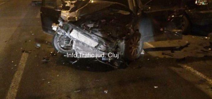 ACCIDENT cu patru persoane rănite și șapte mașini avariate în Cluj – FOTO