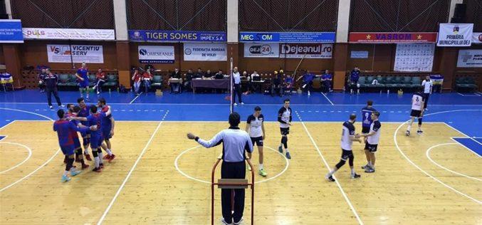 VICTORIE importantă pentru CS Unirea Dej: 3-2 pe terenul Universității Cluj (VOLEI)