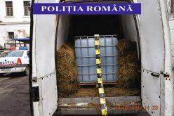 Aproape 3 tone de alcool, fără documente, confiscat de polițiști în Câțcău – FOTO