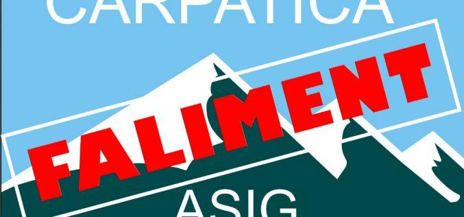 Carpatica Asig este, OFICIAL, în FALIMENT! FGA va iniția plățile către creditori