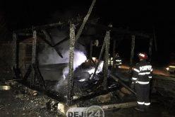 Cioban găsit CARBONIZAT, lângă Dej. Adăpostul în care se afla S-A FĂCUT SCRUM – FOTO/VIDEO