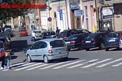 CAMERE SUPRAVEGHERE – Cum s-a petrecut accidentul de pe strada George Coșbuc din Dej? – VIDEO
