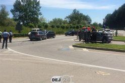 ACCIDENT într-o intersecție din Dej! Trei mașini au fost serios avariate – FOTO