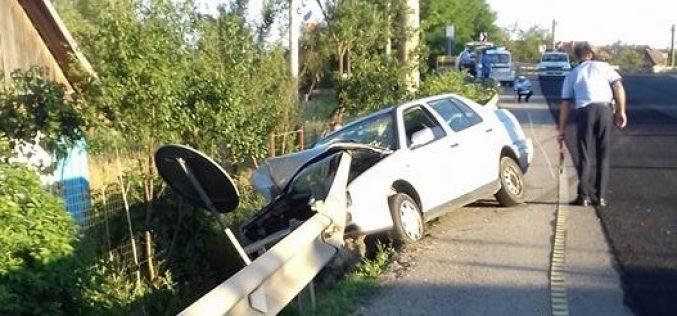 ACCIDENT GRAV în județul Cluj! O persoană a ajuns la spital