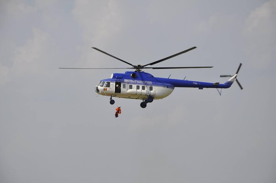 Unitatea Specială de Aviație, exerciții de salvare aeriene în județul Cluj!