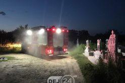 INCENDIU – Pompierii din Dej, chemați în cimitirul de pe Dealul Florilor – FOTO