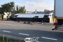COD ROȘU de intervenție – ACCIDENT cu OPT VICTIME lângă Câțcău! Autocar RĂSTURNAT | Elicopterul SMURD, solicitat – FOTO/VIDEO