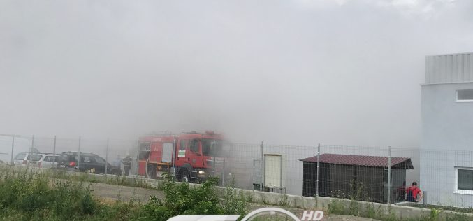Patru muncitori INTOXICAȚI în urma unui incendiu la o fabrică din Dej – FOTO/VIDEO