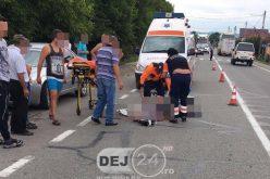 ACCIDENT – Biciclist RĂNIT GRAV după ce a fost lovit de o mașină, în Ciceu Mihăiești – FOTO