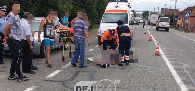 ACCIDENT mortal în Cluj! Un biciclist s-a izbit violent de un utilaj