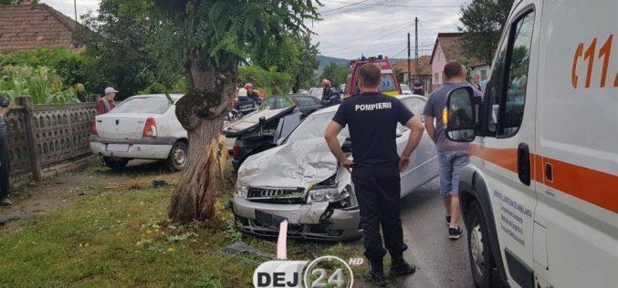 ACCIDENT MORTAL la Gherla, din cauza neacordării de prioritate – FOTO/VIDEO