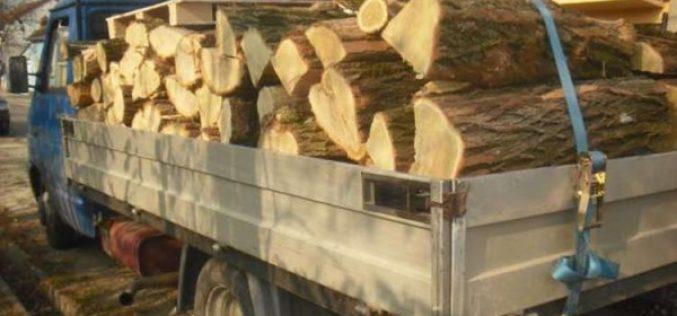 Bărbat din Mica, tras pe dreapta de polițiști, în Reteag, după ce a transportat ilegal material lemnos cu o autoutilitară